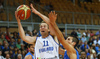 Petteri Koponen (no.11) of Finland scoring during basketball match of Adecco cup between Finland and Italy. Basketball match of Adecco cup between Finland and Italy was played in Bonifika arena in Koper, Slovenia, on Friday, 21st of August 2015.