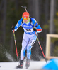 Ahti Toivanen of Finland during men sprint race of IBU Biathlon World Cup in Canmore, Alberta, Canada. Men sprint race of IBU Biathlon World cup was held in Canmore, Alberta, Canada, on Thursday, 4th of February 2016.