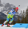 Klemen Bauer of Slovenia during men sprint race of IBU Biathlon World Cup in Canmore, Alberta, Canada. Men sprint race of IBU Biathlon World cup was held in Canmore, Alberta, Canada, on Thursday, 4th of February 2016.