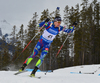 Quentin Fillon-Maillet, France during men sprint race of IBU Biathlon World Cup in Canmore, Alberta, Canada. Men sprint race of IBU Biathlon World cup was held in Canmore, Alberta, Canada, on Thursday, 4th of February 2016.