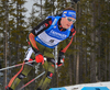 Simon Schempp of Germany during men sprint race of IBU Biathlon World Cup in Canmore, Alberta, Canada. Men sprint race of IBU Biathlon World cup was held in Canmore, Alberta, Canada, on Thursday, 4th of February 2016.