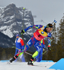 Martin Fourcade of France  during men sprint race of IBU Biathlon World Cup in Canmore, Alberta, Canada. Men sprint race of IBU Biathlon World cup was held in Canmore, Alberta, Canada, on Thursday, 4th of February 2016.