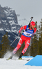 Alexander Os of Norway during men sprint race of IBU Biathlon World Cup in Canmore, Alberta, Canada. Men sprint race of IBU Biathlon World cup was held in Canmore, Alberta, Canada, on Thursday, 4th of February 2016.