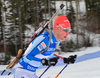 Tuomas Gronman of Finland during men sprint race of IBU Biathlon World Cup in Canmore, Alberta, Canada. Men sprint race of IBU Biathlon World cup was held in Canmore, Alberta, Canada, on Thursday, 4th of February 2016.