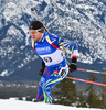 Jean Beatrix Guillaume of France during men sprint race of IBU Biathlon World Cup in Canmore, Alberta, Canada. Men sprint race of IBU Biathlon World cup was held in Canmore, Alberta, Canada, on Thursday, 4th of February 2016.