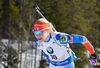 Kaisa Makarainen of Finland during women sprint race of IBU Biathlon World Cup in Canmore, Alberta, Canada. Men sprint race of IBU Biathlon World cup was held in Canmore, Alberta, Canada, on Friday, 5th of February 2016.