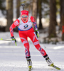 Hilde Fenne of Norway during women sprint race of IBU Biathlon World Cup in Canmore, Alberta, Canada. Men sprint race of IBU Biathlon World cup was held in Canmore, Alberta, Canada, on Friday, 5th of February 2016.
