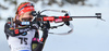 Luise Kummer of Germany during women sprint race of IBU Biathlon World Cup in Canmore, Alberta, Canada. Men sprint race of IBU Biathlon World cup was held in Canmore, Alberta, Canada, on Friday, 5th of February 2016.