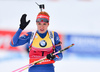 Gabriela Soukalova of the Czech Republic during women mass start race of IBU Biathlon World Cup in Canmore, Alberta, Canada. Men sprint race of IBU Biathlon World cup was held in Canmore, Alberta, Canada, on Friday, 5th of February 2016.