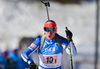 Sanna Markkanen of Finland during mixed relay race of IBU Biathlon World Cup in Canmore, Alberta, Canada. Mixed relay race of IBU Biathlon World cup was held in Canmore, Alberta, Canada, on Sunday, 7th of February 2016.