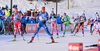 Lucie Charvatova of Czech during mixed relay race of IBU Biathlon World Cup in Canmore, Alberta, Canada. Mixed relay race of IBU Biathlon World cup was held in Canmore, Alberta, Canada, on Sunday, 7th of February 2016.