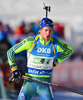 Torstein Stenersen of Sweden during mixed relay race of IBU Biathlon World Cup in Canmore, Alberta, Canada. Mixed relay race of IBU Biathlon World cup was held in Canmore, Alberta, Canada, on Sunday, 7th of February 2016.