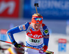 Kaisa Makarainen of Finland during mixed relay race of IBU Biathlon World Cup in Canmore, Alberta, Canada. Mixed relay race of IBU Biathlon World cup was held in Canmore, Alberta, Canada, on Sunday, 7th of February 2016.