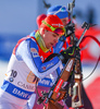 Ahti Toivanen of Finland during mixed relay race of IBU Biathlon World Cup in Canmore, Alberta, Canada. Mixed relay race of IBU Biathlon World cup was held in Canmore, Alberta, Canada, on Sunday, 7th of February 2016.