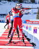 SOLEMDAL Synnoeve, NOR during mixed relay race of IBU Biathlon World Cup in Canmore, Alberta, Canada. Mixed relay race of IBU Biathlon World cup was held in Canmore, Alberta, Canada, on Sunday, 7th of February 2016.