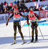 PREUSS Franziska, GER, PEIFFER Arnd, GER during mixed relay race of IBU Biathlon World Cup in Canmore, Alberta, Canada. Mixed relay race of IBU Biathlon World cup was held in Canmore, Alberta, Canada, on Sunday, 7th of February 2016.