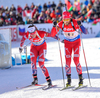 SOLEMDAL Synnoeve, NOR, OS Alexander, NOR during mixed relay race of IBU Biathlon World Cup in Canmore, Alberta, Canada. Mixed relay race of IBU Biathlon World cup was held in Canmore, Alberta, Canada, on Sunday, 7th of February 2016.