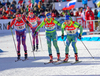 BURKE Tim, USA, DREISSIGACKER Hannah, BRORSSON Mona, SWE, ARWIDSON Tobias, SWE, USA,  during mixed relay race of IBU Biathlon World Cup in Canmore, Alberta, Canada. Mixed relay race of IBU Biathlon World cup was held in Canmore, Alberta, Canada, on Sunday, 7th of February 2016.