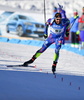 Martin Fourcade of France during mixed relay race of IBU Biathlon World Cup in Canmore, Alberta, Canada. Mixed relay race of IBU Biathlon World cup was held in Canmore, Alberta, Canada, on Sunday, 7th of February 2016.