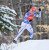Sanna Markkanen of Finland during women sprint race of IBU Biathlon World Cup in Presque Isle, Maine, USA. Women sprint race of IBU Biathlon World cup was held in Presque Isle, Maine, USA, on Thursday, 11th of February 2016.