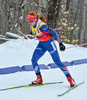 Gabriela Soukalova of Czech during women sprint race of IBU Biathlon World Cup in Presque Isle, Maine, USA. Women sprint race of IBU Biathlon World cup was held in Presque Isle, Maine, USA, on Thursday, 11th of February 2016.
