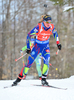 Marie Dorin-Habert of France during women sprint race of IBU Biathlon World Cup in Presque Isle, Maine, USA. Women sprint race of IBU Biathlon World cup was held in Presque Isle, Maine, USA, on Thursday, 11th of February 2016.