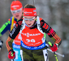 Franziska Preuss of Germany during women sprint race of IBU Biathlon World Cup in Presque Isle, Maine, USA. Women sprint race of IBU Biathlon World cup was held in Presque Isle, Maine, USA, on Thursday, 11th of February 2016.