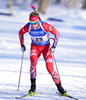 Johannes Thingnes Boe of Norway during men sprint race of IBU Biathlon World Cup in Presque Isle, Maine, USA. Men sprint race of IBU Biathlon World cup was held in Presque Isle, Maine, USA, on Thursday, 11th of February 2016.