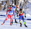 Martin Fourcade of France during men sprint race of IBU Biathlon World Cup in Presque Isle, Maine, USA. Men sprint race of IBU Biathlon World cup was held in Presque Isle, Maine, USA, on Thursday, 11th of February 2016.