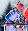 Kaisa Makarainen of Finland during women pursuit race of IBU Biathlon World Cup in Presque Isle, Maine, USA. Women pursuit race of IBU Biathlon World cup was held in Presque Isle, Maine, USA, on Friday, 12th of February 2016.