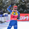 Gabriela Soukalova of Czech during women pursuit race of IBU Biathlon World Cup in Presque Isle, Maine, USA. Women pursuit race of IBU Biathlon World cup was held in Presque Isle, Maine, USA, on Friday, 12th of February 2016.