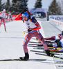 Anton Shipulin of Russia during men pursuit race of IBU Biathlon World Cup in Presque Isle, Maine, USA. Men pursuit race of IBU Biathlon World cup was held in Presque Isle, Maine, USA, on Friday, 12th of February 2016.