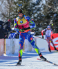 Martin Fourcade of France during men pursuit race of IBU Biathlon World Cup in Presque Isle, Maine, USA. Men pursuit race of IBU Biathlon World cup was held in Presque Isle, Maine, USA, on Friday, 12th of February 2016.