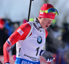 Johannes Thingnes Boe of Norway during men pursuit race of IBU Biathlon World Cup in Presque Isle, Maine, USA. Men pursuit race of IBU Biathlon World cup was held in Presque Isle, Maine, USA, on Friday, 12th of February 2016.