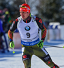 Arnd Peiffer of Germany during men pursuit race of IBU Biathlon World Cup in Presque Isle, Maine, USA. Men pursuit race of IBU Biathlon World cup was held in Presque Isle, Maine, USA, on Friday, 12th of February 2016.