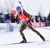 LESSER Erik of Germany during men relay race of IBU Biathlon World Cup in Presque Isle, Maine, USA. Men relay race of IBU Biathlon World cup was held in Presque Isle, Maine, USA, on Saturday, 13th of February 2016.