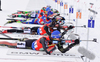 BIRNBACHER Andreas of Germany and WEGER Benjamin of Switzerland during men relay race of IBU Biathlon World Cup in Presque Isle, Maine, USA. Men relay race of IBU Biathlon World cup was held in Presque Isle, Maine, USA, on Saturday, 13th of February 2016.