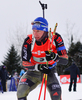 BIRNBACHER Andreas of Germany during men relay race of IBU Biathlon World Cup in Presque Isle, Maine, USA. Men relay race of IBU Biathlon World cup was held in Presque Isle, Maine, USA, on Saturday, 13th of February 2016.
