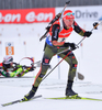 BOEHM Daniel of Germany during men relay race of IBU Biathlon World Cup in Presque Isle, Maine, USA. Men relay race of IBU Biathlon World cup was held in Presque Isle, Maine, USA, on Saturday, 13th of February 2016.