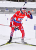 BOE Tarjei of Norway during men relay race of IBU Biathlon World Cup in Presque Isle, Maine, USA. Men relay race of IBU Biathlon World cup was held in Presque Isle, Maine, USA, on Saturday, 13th of February 2016.