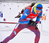 TSVETKOV Maxim of Russia during men relay race of IBU Biathlon World Cup in Presque Isle, Maine, USA. Men relay race of IBU Biathlon World cup was held in Presque Isle, Maine, USA, on Saturday, 13th of February 2016.