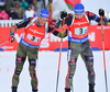 LESSER Erik and BIRNBACHER Andreas of Germany during men relay race of IBU Biathlon World Cup in Presque Isle, Maine, USA. Men relay race of IBU Biathlon World cup was held in Presque Isle, Maine, USA, on Saturday, 13th of February 2016.