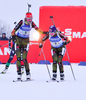 KUMMER Luise and GOESSNER Miriam of Germany during women relay race of IBU Biathlon World Cup in Presque Isle, Maine, USA. Women relay race of IBU Biathlon World cup was held in Presque Isle, Maine, USA, on Saturday, 13th of February 2016.