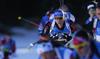 Erik Lesser of Germany during the men relay race of IBU Biathlon World Cup in Pokljuka, Slovenia.  Men relay race of IBU Biathlon World cup was held in Pokljuka, Slovenia, on Sunday, 11th of December 2016.