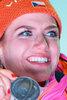 Silver Medalist Gabriela Koukalova of Czech Republic during the Winner Award Ceremony of individual woman of the IBU Biathlon World Championships Biathlonarena in Hochfilzen, Austria on 2017/02/15.