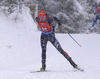 Anastasiya Kuzmina of Slovakia during the women 7.5km sprint race of IBU Biathlon World Cup in Hochfilzen, Austria.  Women 7.5km sprint race of IBU Biathlon World cup was held in Hochfilzen, Austria, on Friday, 8th of December 2017.