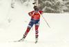 Fifth placed Ingrid Landmark Tandrevold of Norway during the women 7.5km sprint race of IBU Biathlon World Cup in Hochfilzen, Austria.  Women 7.5km sprint race of IBU Biathlon World cup was held in Hochfilzen, Austria, on Friday, 8th of December 2017.