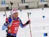 Kaisa Makarainen of Finland during the zeroing before the women 7.5km sprint race of IBU Biathlon World Cup in Hochfilzen, Austria.  Women 7.5km sprint race of IBU Biathlon World cup was held in Hochfilzen, Austria, on Friday, 8th of December 2017.