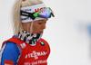 Mari Laukkanen of Finland during the zeroing before the women 7.5km sprint race of IBU Biathlon World Cup in Hochfilzen, Austria.  Women 7.5km sprint race of IBU Biathlon World cup was held in Hochfilzen, Austria, on Friday, 8th of December 2017.
