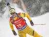 Emma Nilsson of Sweden during the women 7.5km sprint race of IBU Biathlon World Cup in Hochfilzen, Austria.  Women 7.5km sprint race of IBU Biathlon World cup was held in Hochfilzen, Austria, on Friday, 8th of December 2017.